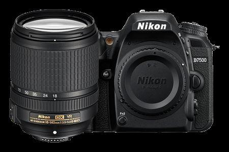 Picture of Nikon D7500 DSLR Camera with AF-S DX NIKKOR 18-140mm f/3.5-5.6G ED VR Lens Black