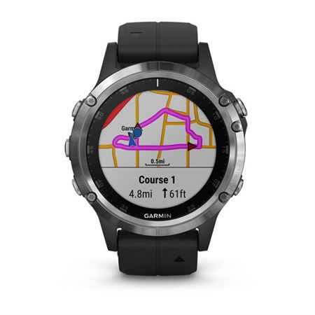 Picture of Garmin Fenix 5 Plus Silver with Black Band