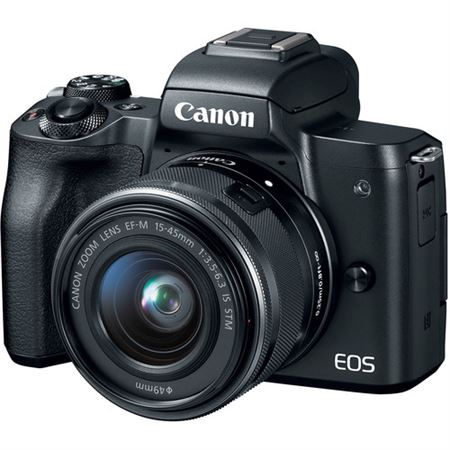 Picture of Canon EOS M50 Mirrorless Digital Camera Black With EF-M 15-45mm f/3.5-6.3 IS STM Lens