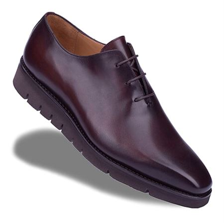 Picture of Neqwa Men's Shoes Madrid Collection - Umber Brown Patina