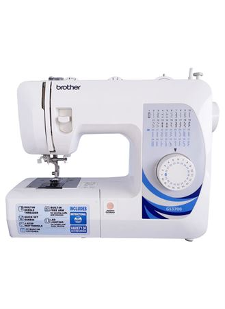 Picture of Brother Traditional Metal Chassis Sewing Machine GS3700 - White