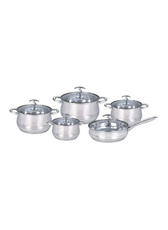 Picture of dessini-10-piece-stainless-steel-casserole-set-silver
