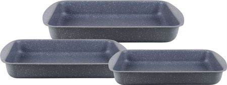 Picture of dessini-granite-coating-square-pan-3-pcs-for-kitchen-grey