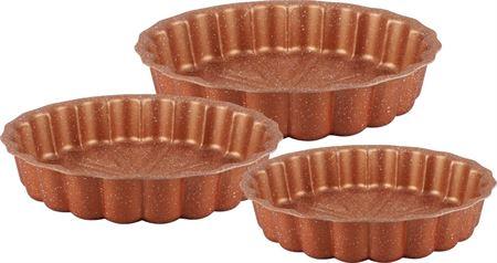 Picture of dessini-granite-coating-cake-pan-3-pcs-for-kitchen-gold