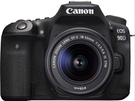Picture of Canon 90D Digital SLR Camera with 18-55 IS STM Lens Black