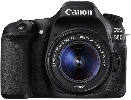 Picture of Canon EOS 80D Lens Kit - 24.2 MP, SLR Camera, 18 - 55mm IS STM, Black