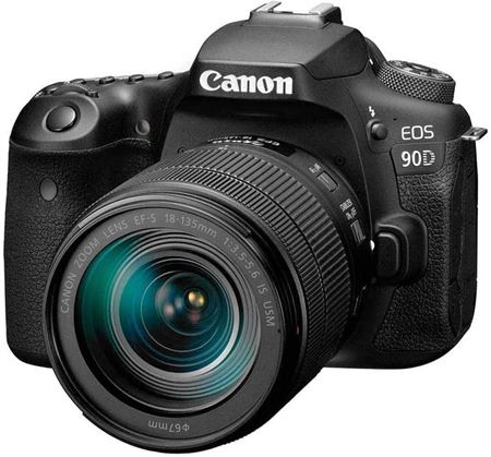 Picture of Canon 90D Digital SLR Camera with 18-135 IS USM Lens