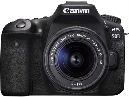 Picture of Canon EOS 90D and EF-S 18-55mm IS STM Lens