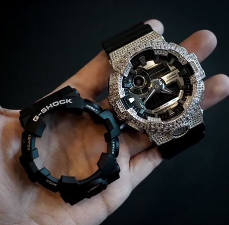 Picture of Luxury Watch G-Shock Crystal Bling GA-700 White Silver Iced Out
