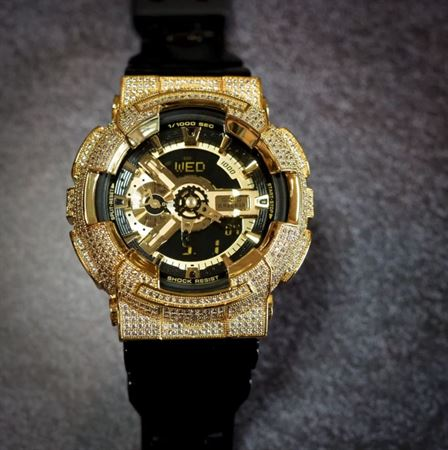 Picture of Luxury Watch G-Shock Crystal Bling GA-110 Gold Iced Out