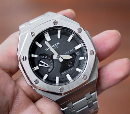 Picture of G-Shock GA-2100 Customized Silver AP Style
