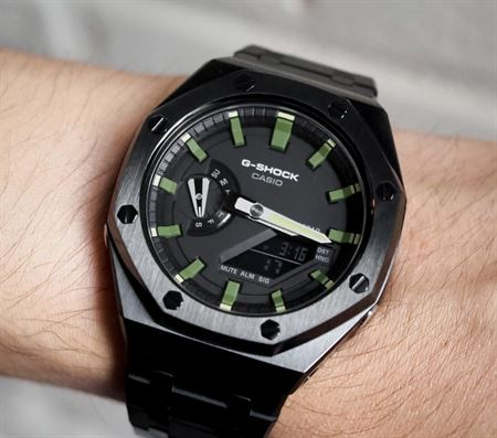 Picture of G-Shock GA-2100 Customized Black Camo AP Style