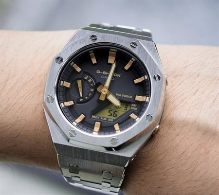 Picture of G-Shock Customized Silver and Gold AP Style