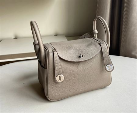 Picture of Littlebunnystore LD 26 cm togo genuine leather silver hardware in gris tourterelle