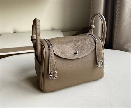 Picture of Littlebunnystore LD 26 cm togo genuine leather silver hardware in etoupe