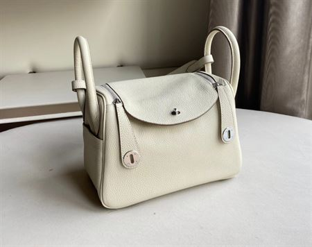 Picture of Littlebunnystore LD 26 cm togo genuine leather silver hardware in craie