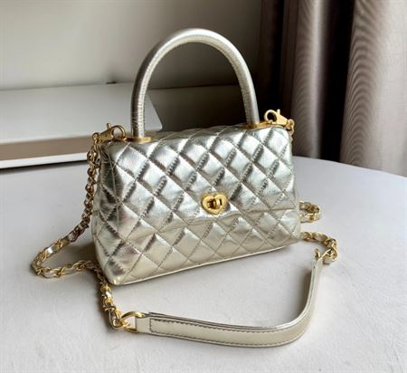 """Picture of Littlebunnystore cc coco 8"""" light gold genuine leather"""