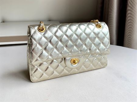 """Picture of Littlebunnystore cc classic 10"""" light gold genuine leather"""