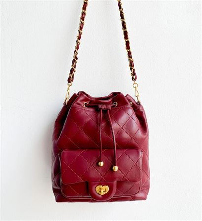 Picture of Littlebunnystore CC Bucket genuine leather in burgundy