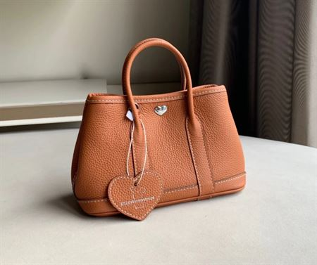 Picture of Littlebunnystore GD mini 18 cm Togo genuine leather in gold ( brown)