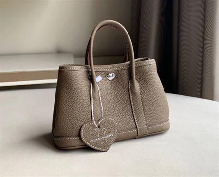 Picture of Littlebunnystore GD mini 18 cm Togo genuine leather in taupe (dark khaki)